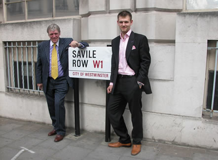 James & Michael on a recent visit to Savile Row in London
